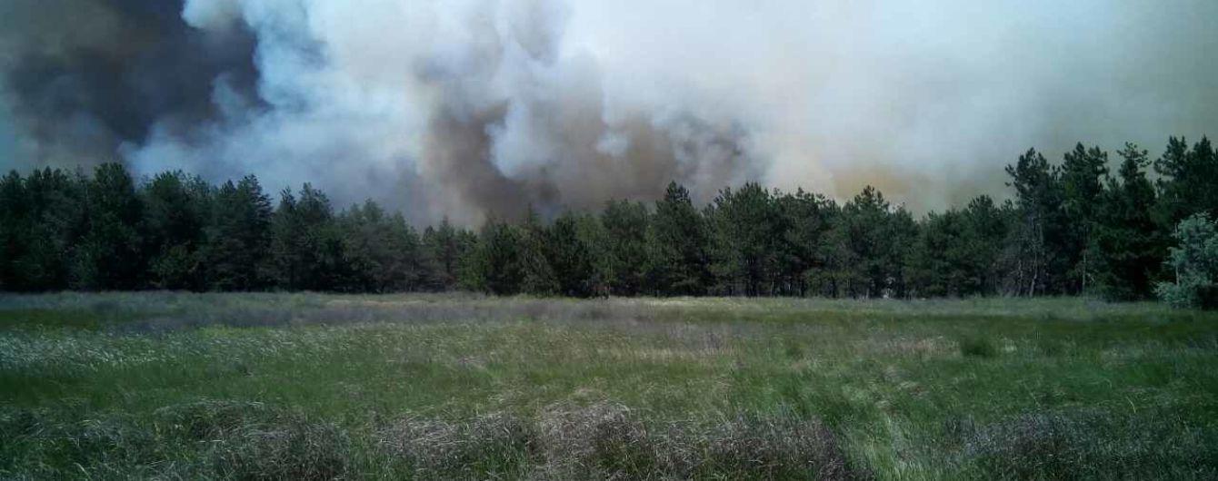 В России горит военный полигон возле Воронежа