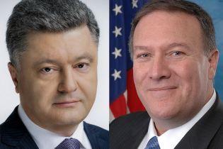 Крим, миротворці і вимоги МВФ: Порошенко провів телефонну розмову з Помпео