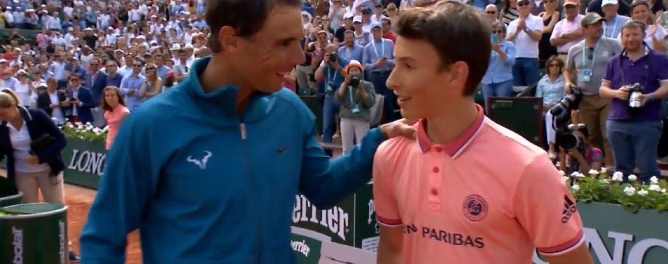 Перша ракетка світу Надаль здійснив давню мрію болбоя після матчу на Roland Garros