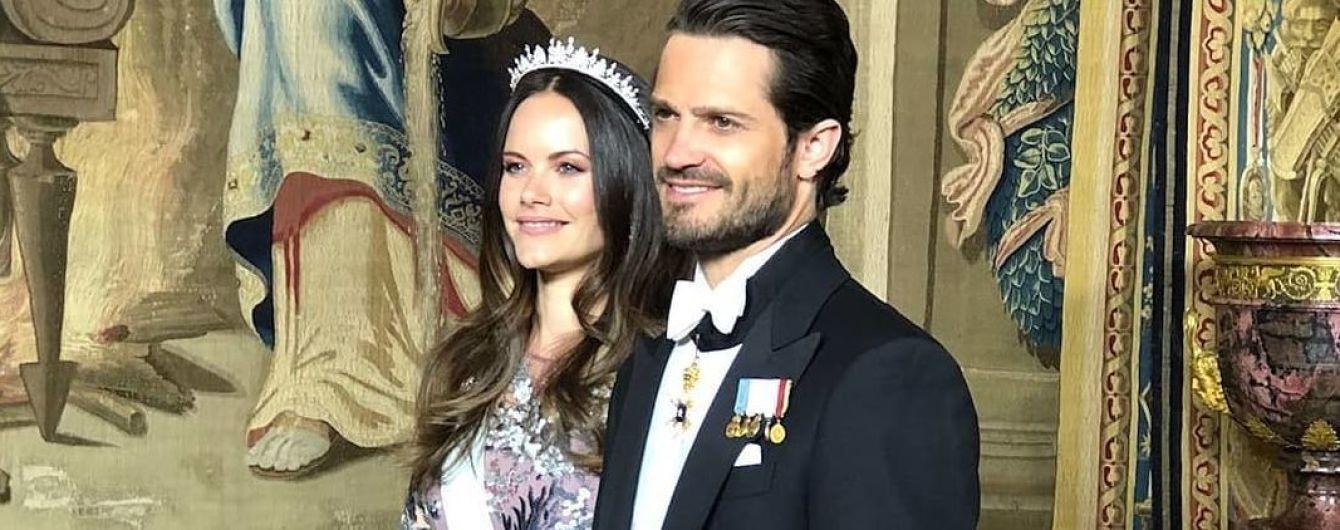 В красивом платье и с тиарой: принцесса София с мужем на торжественном приеме