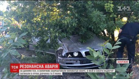 В Запорожье задержали виновника аварии, в которой погибли 5-летняя девочка и ее мама