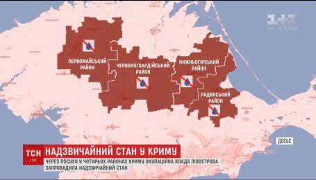Российские оккупанты в Крыму объявили чрезвычайное положение