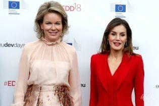 Две красивые королевы: Летиция и Матильда встретились на торжественной церемонии в Брюсселе