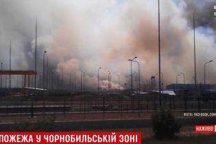Возле ЧАЭС с самолета и вертолета тушили 20 гектаров горящей зоны отчуждения