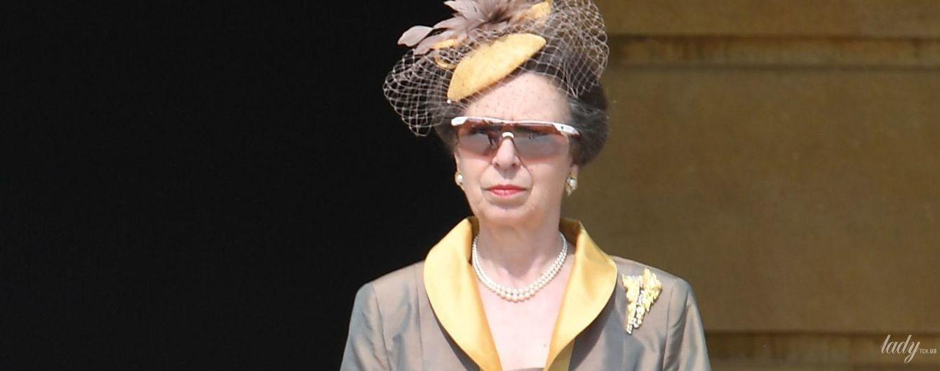 В мятом платье и шляпке с вуалью: не очень удачный образ принцессы Анны