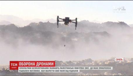 Израильтяне дронами сбивают воздушных змеев из Палестины, которые вызывают пожары