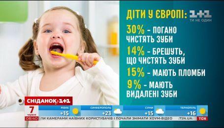Каждый третий ребенок очищает только переднюю поверхность зубов