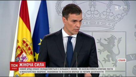 Іспанський прем'єр сформував уряд, де домінуватимуть жінки