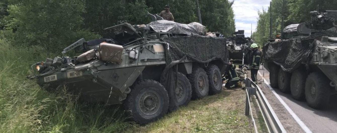 В Литве произошло ДТП с участием четырех БТР, пострадали 13 военных США