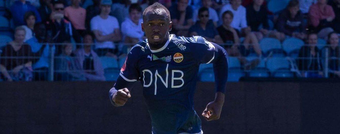 Легендарный спринтер Болт наконец дебютировал в футбольном матче