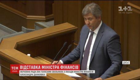 Верховна Рада зі скандалом звільнила Олександра Данилюка з посади міністра фінансів