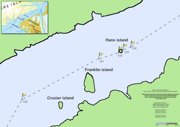Острів Ганс, Данія, Канада