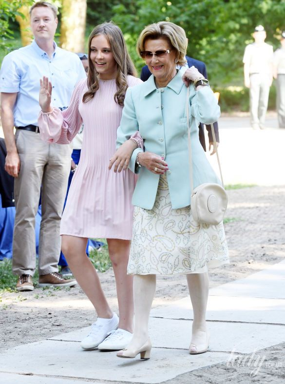 Королева Соня и принцесса Ингрид-Александра