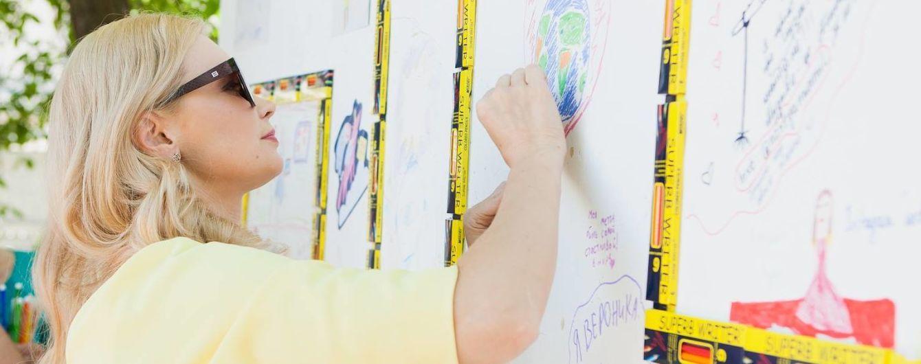 Фея Лидия Таран презентовала 10-метровую Стену Мечт на Bashka Kids Awards