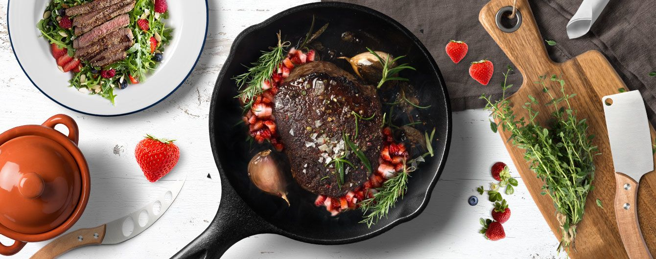 Клубника и мясо — этовкусно!