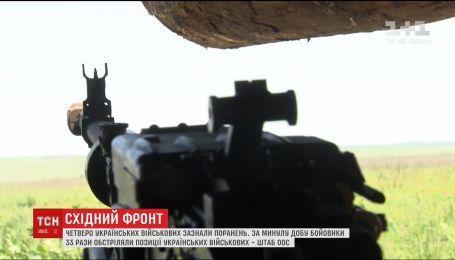 Четверо українських військових зазнали поранень на Східному фронті
