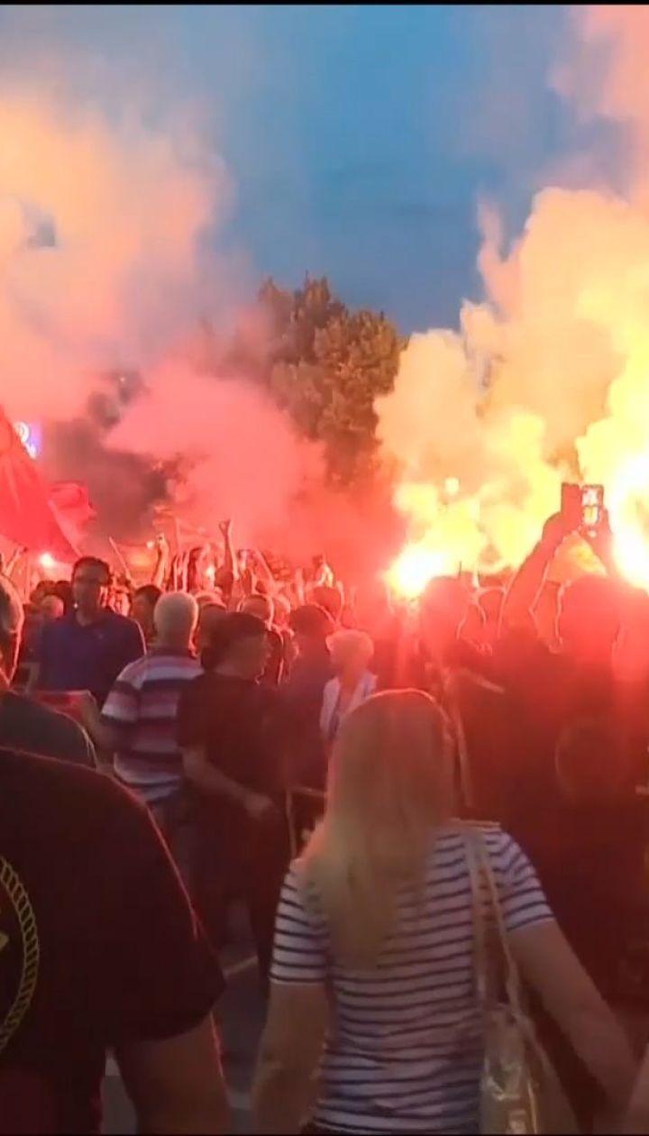 У македонській столиці Скоп'є протестували через перейменування країни