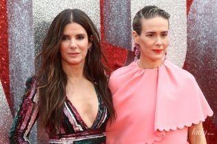 """В экстравагантном розовом платье: Сара Полсон на премьере фильма """"8 подруг Оушена"""""""
