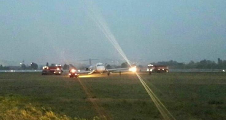 літак авіакомпанії Bravo в аеропорту Київ