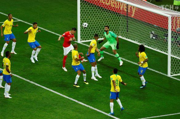 Збірна Швейцарії забиває гол