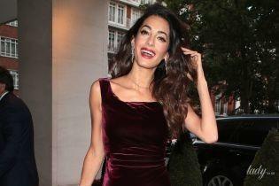 В бархатном платье и с бриллиантами: светский выход Амаль Клуни
