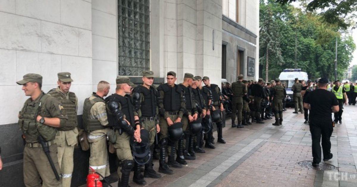 вр, мітинг, рада, поліція, гвардія @ ТСН.ua