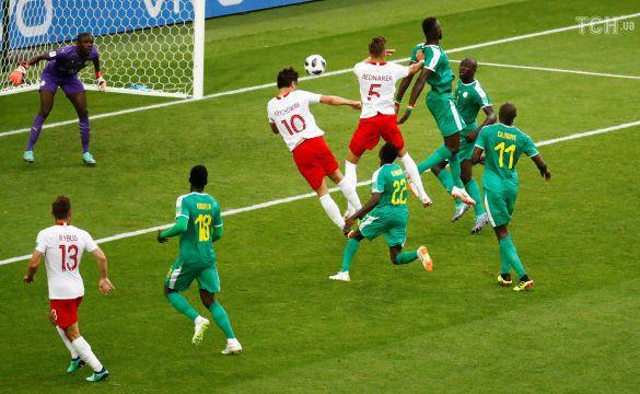 Збірна Польщі забиває гол