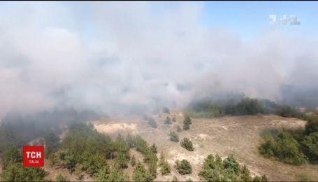 В Запорожье произошел пожар вблизи теплоэлектростанции