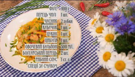 Теплый салат с курицей - рецепты Сеничкина