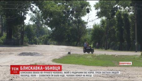 В Винницкой области молния убила мужчину