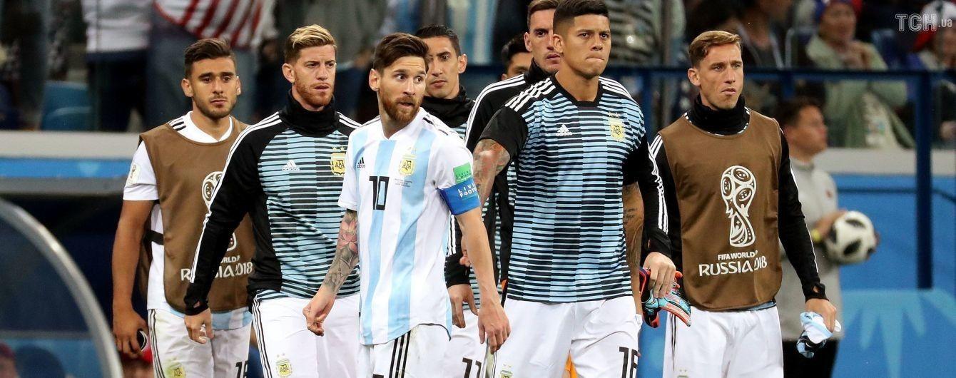 Футболісти збірної Аргентини вимагають змінити тренера після розгромної поразки від Хорватії