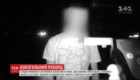 В Івано-Франківську патрульні зафіксували рекордне сп'яніння водія