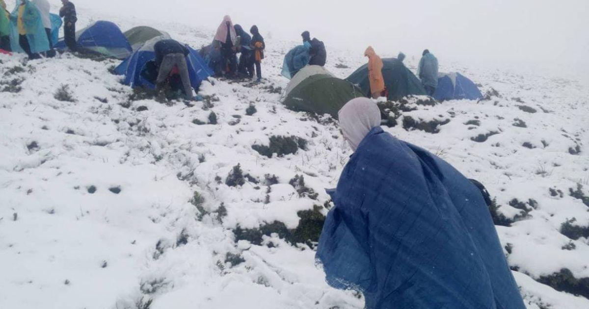 35 туристам понадобилась помощь из-за непогоды @ Государственная служба Украины по чрезвычайным ситуациям