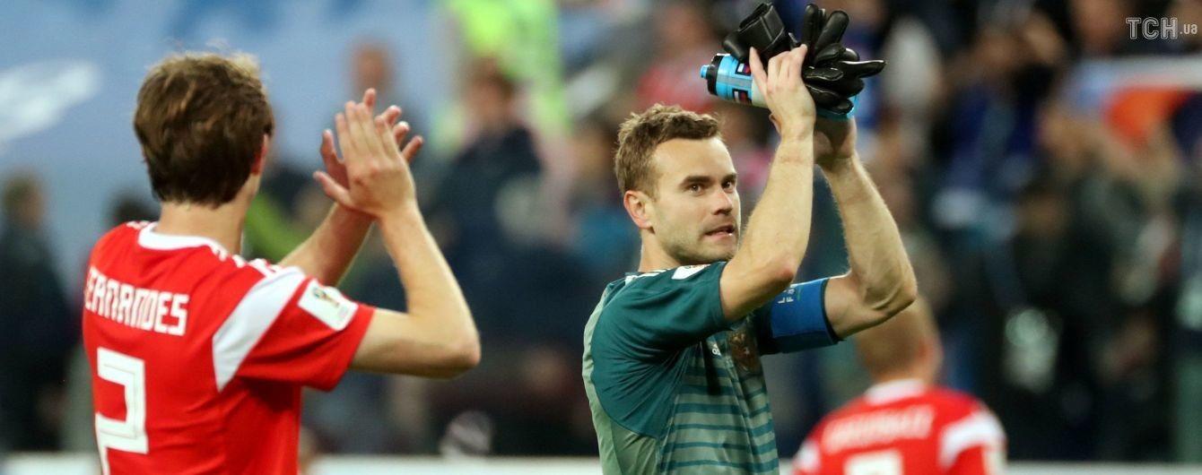 Футболістів збірної Росії закликають перевірити на допінг після двох перемог на ЧС-2018