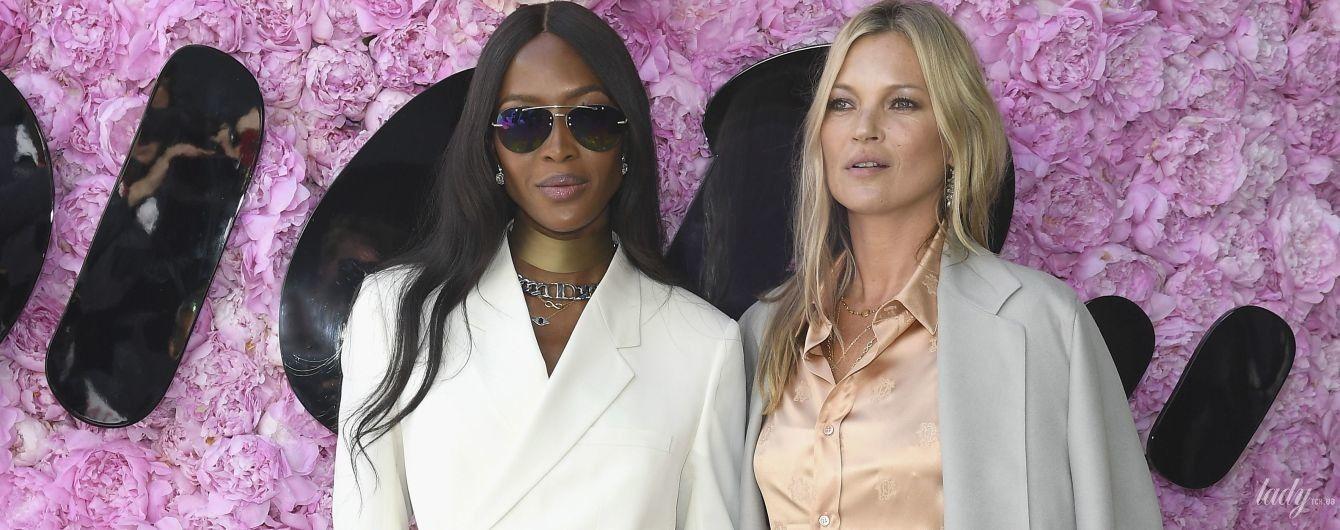 Стильные подруги: Кейт Мосс и Наоми Кэмпбелл на показе Dior в Париже