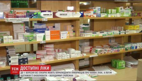 Про наявність ліків у медзакладах українці зможуть дізнаватися онлайн