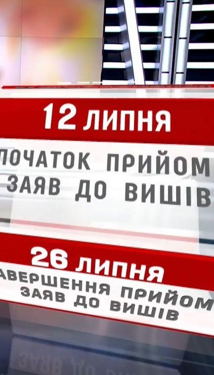 Міносвіти оприлюднило графік вступної кампанії-2018