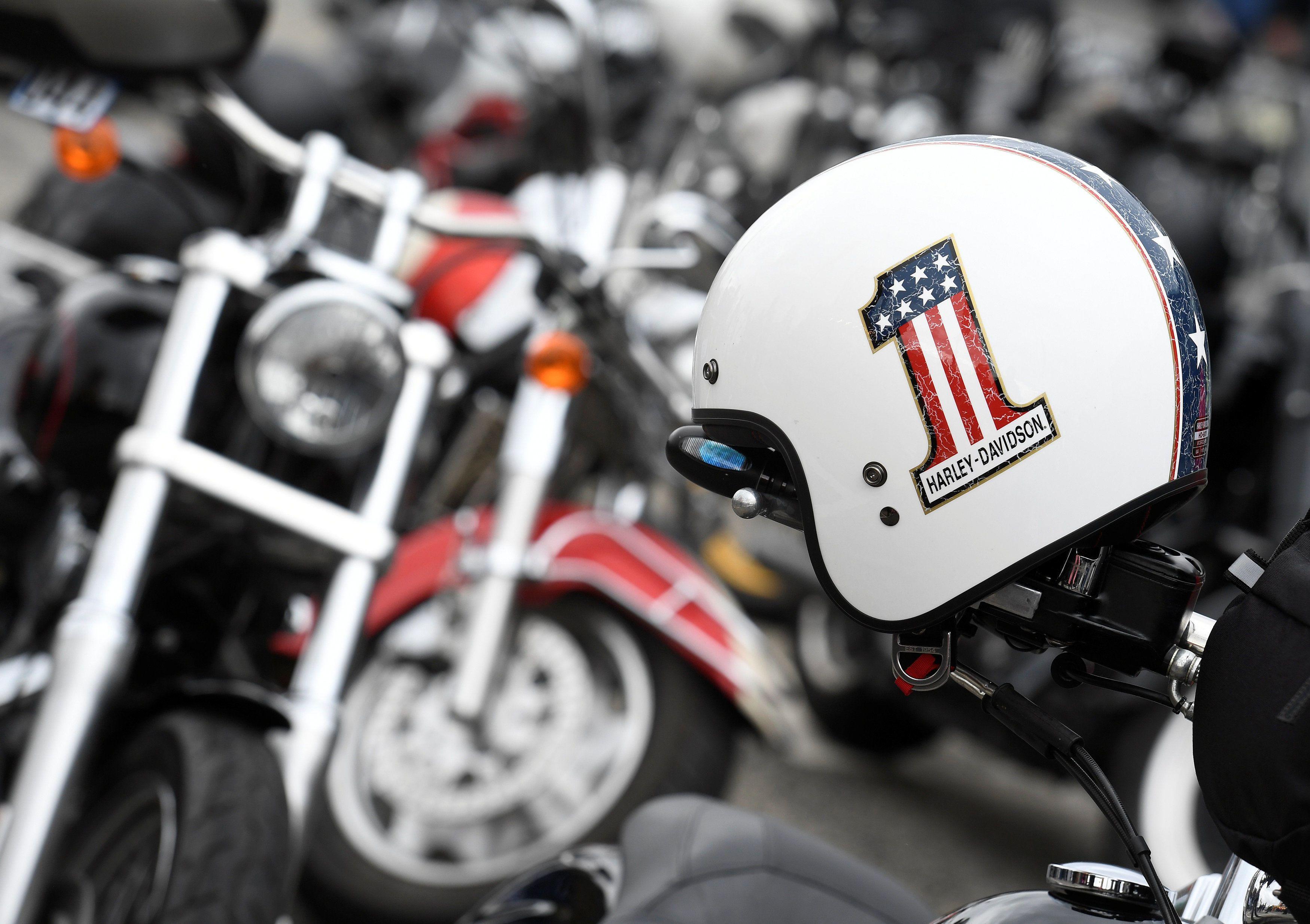 мотоцыклы Harley-Davidson, флаг США, прапор_1