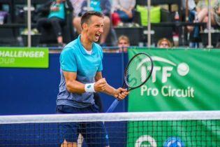 Украинский теннисист Стаховский за 53 минуты выиграл турнир во Франции
