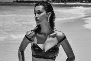 В кожаном белье и топлес: Белла Хадид в новом фотосете
