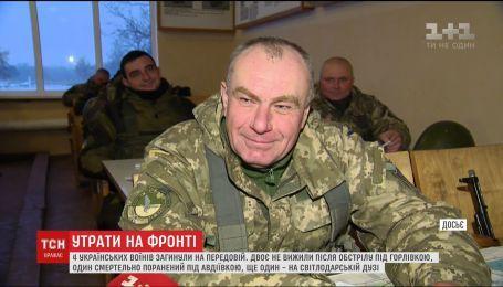 На передовой за сутки погибли четверо украинских воинов
