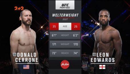 UFC. Дональд Серроне - Леон Едвардс. Видео боя