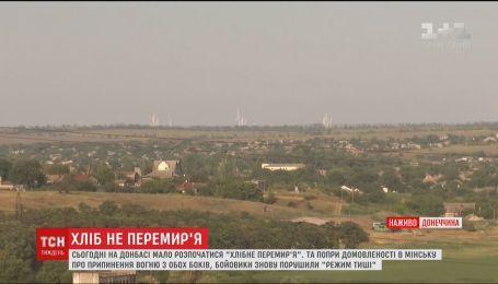 Несмотря на объявленное перемирие, ночью боевики обстреляли Новоалександровку и Зайцево