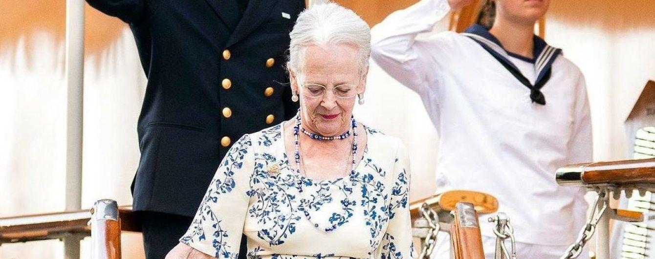"""В элегантном """"цветочном"""" платье: 78-летняя королева Маргрете II вышла на публику в новом образе"""
