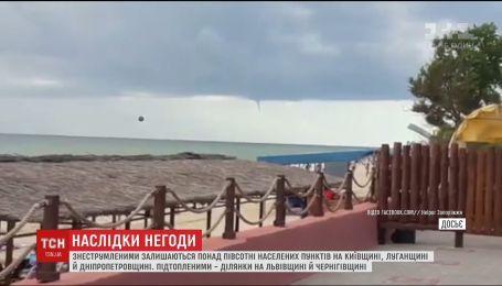 В курортной Кирилловке пронесся торнадо