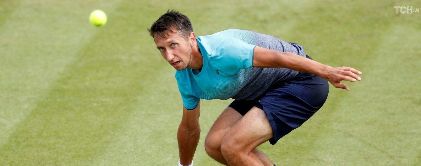 Украинец Стаховский одержал волевую победу на старте Wimbledon