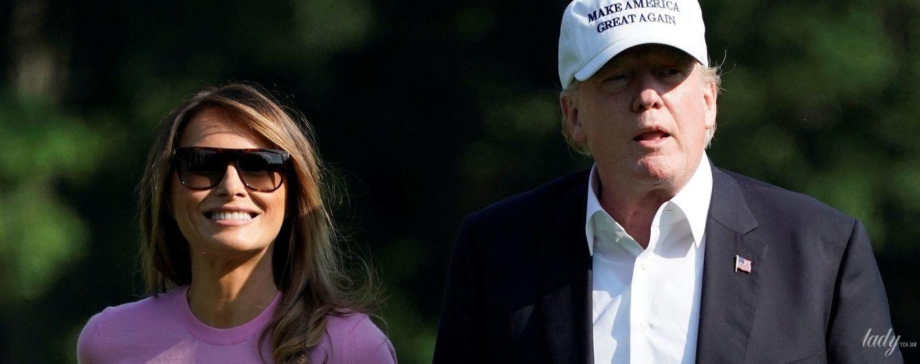 Подвел кашемир: Мелания Трамп показала больше, чем хотела