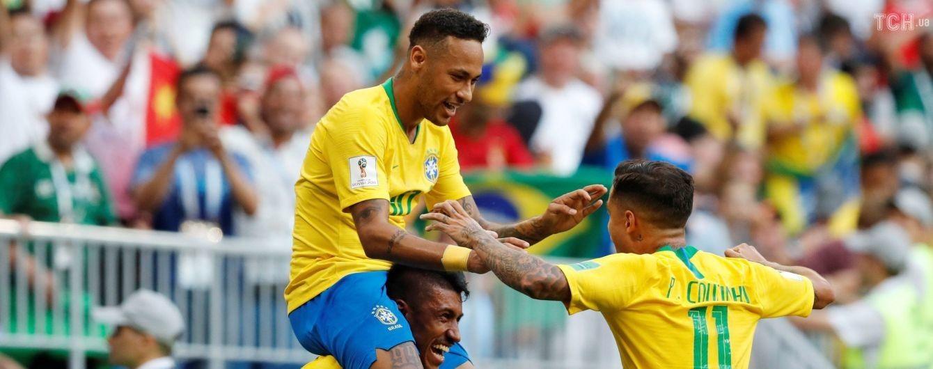 Бразилия обыграла Мексику и вышла в четвертьфинал ЧМ-2018