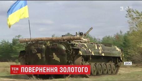 Украинские военные вывесили сине-желтые флаги над освобожденным Золотым