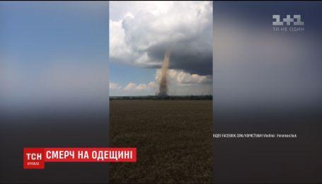 Мощный смерч пронесся под Одессой
